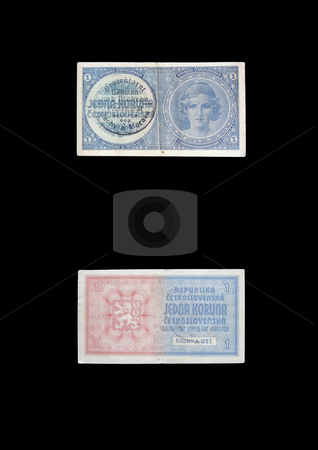 Protectorate crown stock photo, This money was used in