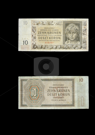 Protectorate 10 crowns stock photo, This money was used in