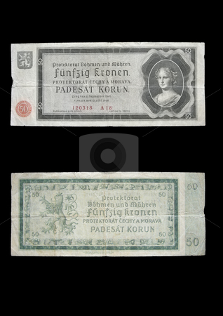 Protectorate 50 crowns stock photo, This money was used in