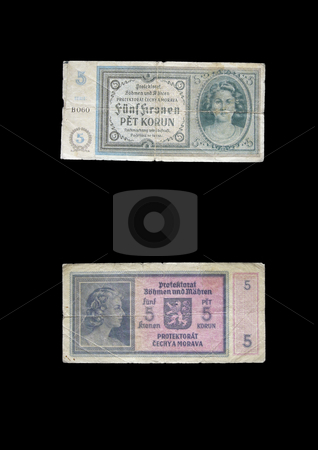 Protectorate 5 crowns stock photo, This money was used in