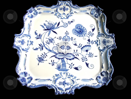 Plate stock photo, China decorated in the so called