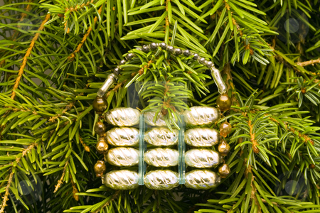 Old Christmas Decoration stock photo, A christmas ornament - seasonal decoration - close up by Petr Koudelka