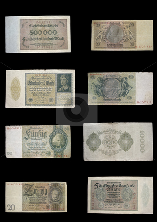 Reichmark stock photo, This money was used in