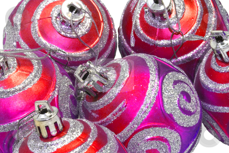 Christmas Decoration stock photo, Christmas ornaments on the white background - close up by Petr Koudelka