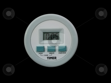 Timer stock photo, This digital timer will certainly be useful in every kitchen. by Petr Koudelka