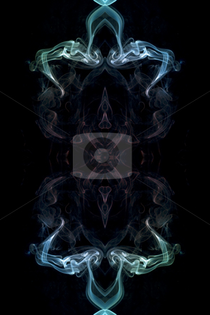 Coloured Smoke stock photo, Abstract picture of coloured smoke on the black background by Petr Koudelka