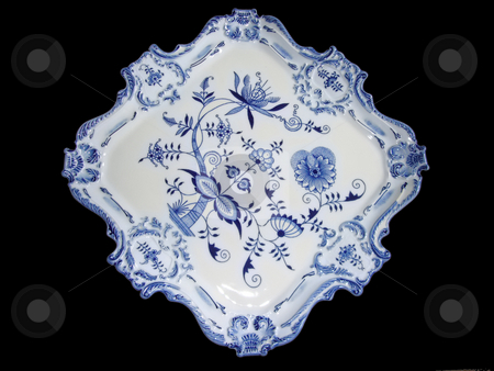 Tray stock photo, China decorated in the so called