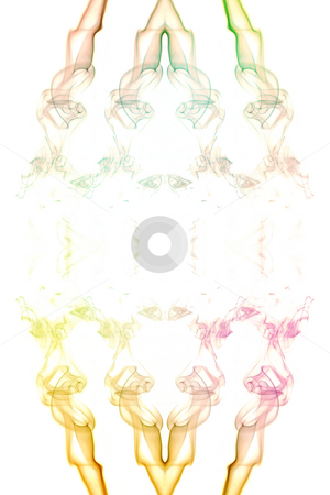 Coloured Smoke stock photo, Abstract picture of coloured smoke on the white background by Petr Koudelka