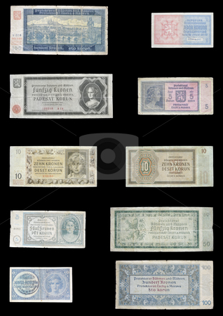 Protectorate Money stock photo, These money were used in