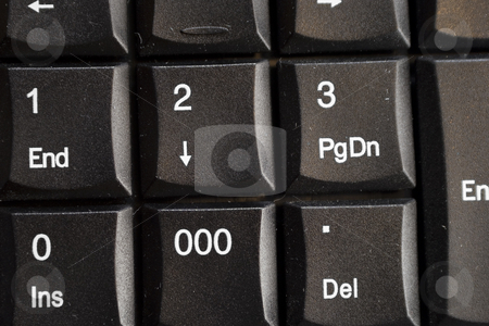 Keypad stock photo, A close-up of a common keypad or numeric keyboard. by Petr Koudelka