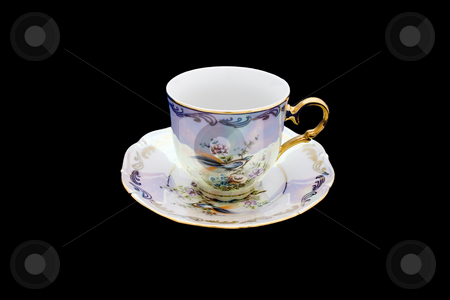 Cup stock photo, Isolated cup on the black background. by Petr Koudelka