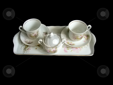 Coffee set stock photo, A nice coffee set suitable for every couple of friends. by Petr Koudelka
