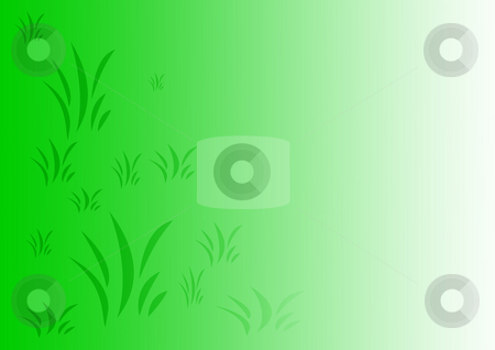Background with Grass stock photo, Green and white gradient background with grass by Petr Koudelka