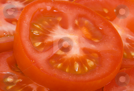 Tomatoes stock photo, Tomato salad - healthy eating - vegetables - close up by Petr Koudelka