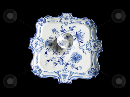 Tray And Bowl stock photo, China decorated in the so called
