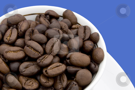 Coffee Beans stock photo, Close-up coffee beans - suitable for magazines, ads, or as a background. by Petr Koudelka