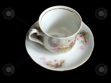 Coffee cup stock photo, A coffe cup on a saucer. by Petr Koudelka