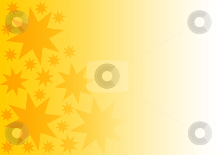 Background with Stars stock photo, Gold and Yellow gradient background with stars by Petr Koudelka