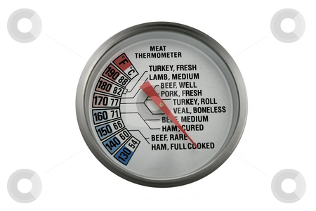 Meat Thermometer stock photo, A meat thermometer you can use in most kitchens. by Petr Koudelka