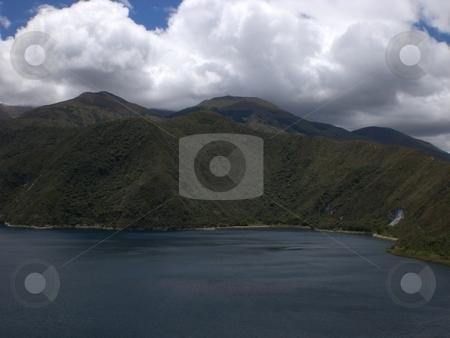 Ecuador lake with clouds stock photo, Ecuador Trip by Scott P Taylor