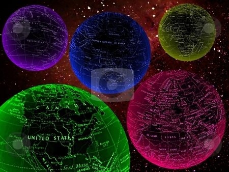 Colorful worlds in space stock photo,  by ZaKaRiA- MaStErPiEcE