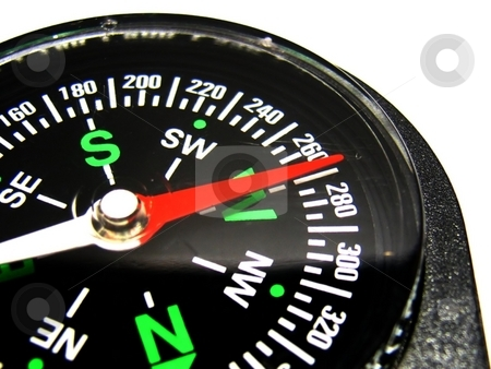 Compass on white closeup stock photo,  by ZaKaRiA- MaStErPiEcE