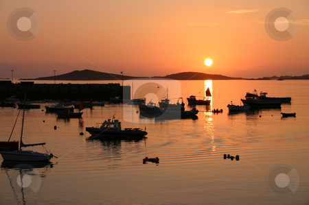 Sunset stock photo, Sunset, Isles of Scilly, Cornwall by Stephen Rees