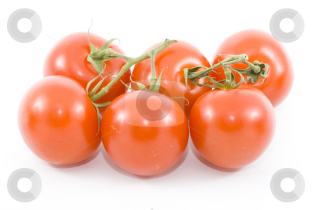 Tomatoes stock photo, A group of six tomatoes - vegetables - close up by Petr Koudelka