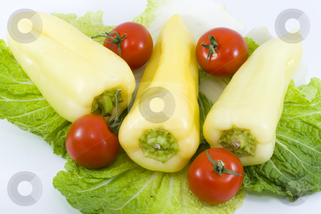 Vegetables stock photo, A group of fresh raw vegetables - healthy eating by Petr Koudelka