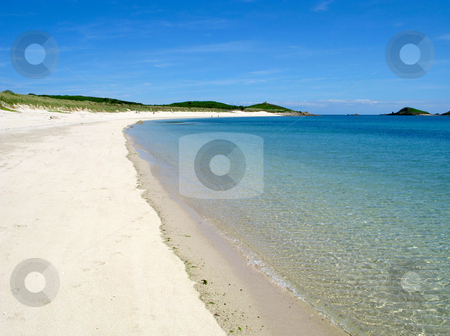 Higher Town bay beach, St. Martins Isles of Scilly. stock photo, Higher Town bay beach, St. Martins Isles of Scilly. by Stephen Rees