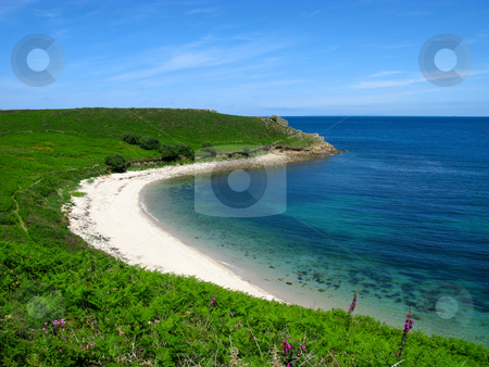 Perpitch beach, St. Martins, Isles of Scilly. stock photo, Perpitch beach, St. Martins, Isles of Scilly. by Stephen Rees