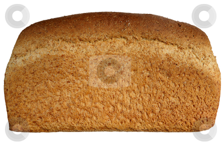 A large healthy wholemeal uncut loaf isolated over white. stock photo, A large healthy wholemeal uncut loaf isolated over white. by Stephen Rees