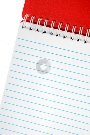Red notebook close up. stock photo, Red notebook close up. by Stephen Rees