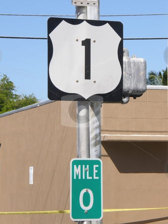 US-1 Mile Marker in Key West, Florida stock photo,  by Ritu Jethani