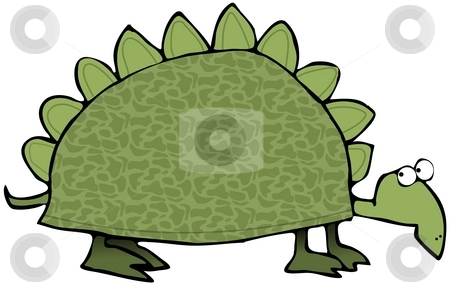 Prehistoric Turtle stock photo, This illustration depicts a prehistoric turtle. by Dennis Cox