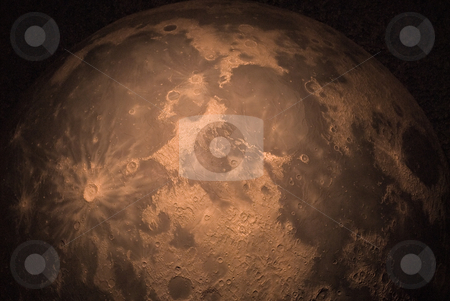 Moon Background stock photo, A large background of a red moon shot in the dark by Richard Nelson