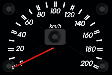 Speedometer 2 stock photo, Speedometer isolated on black background by Jonas Marcos San Luis