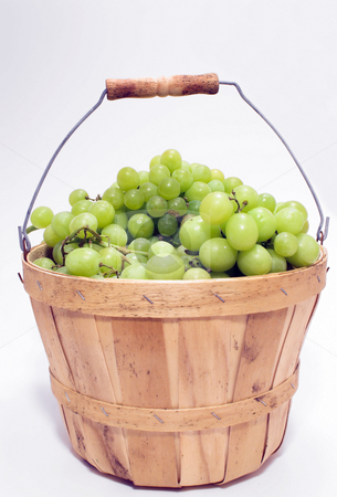 Basket of Grapes stock photo, A basket full of fresh grapes. by Robert Byron