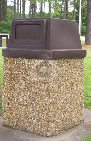 Trash Can stock photo, A trash can at a public park. by Robert Byron