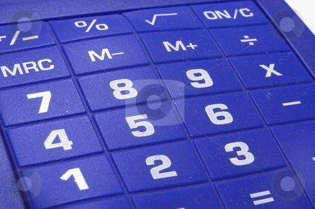 A Modern Calculator stock photo, A modern business calculator for performing computations. by Robert Byron