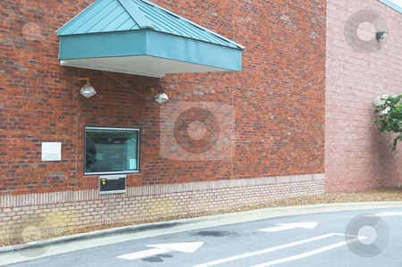 Drive Through stock photo, A drive through bank or drive-thru pharmacy. by Robert Byron