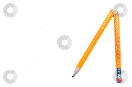 Broken Pencil stock photo, A broken pencil on a white background. by Robert Byron