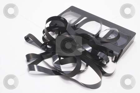 VHS Cassette Tape stock photo, A VHS video cassette tape - Outdated technology concept. by Robert Byron