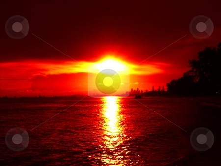 Brilliant sunset eye in the sky stock photo,  by ZaKaRiA- MaStErPiEcE