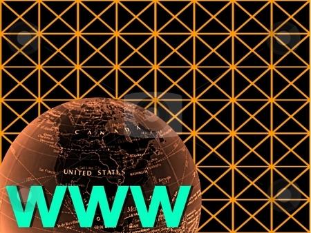 Internet world on grid stock photo,  by ZaKaRiA- MaStErPiEcE