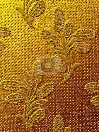 Embroidery golden floral texture stock photo,  by ZaKaRiA- MaStErPiEcE