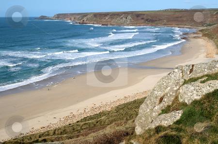Atlantic waves reaching the beach at Sennen Cove, Cornwall, UK stock photo, Atlantic waves reaching the beach at Sennen Cove, Cornwall, UK by Stephen Rees