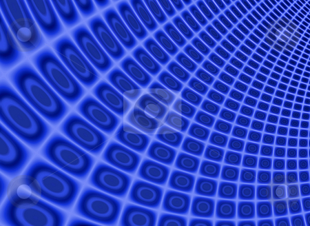 Dynamic blue fractal pattern background. stock photo, Dynamic blue fractal pattern background. by Stephen Rees