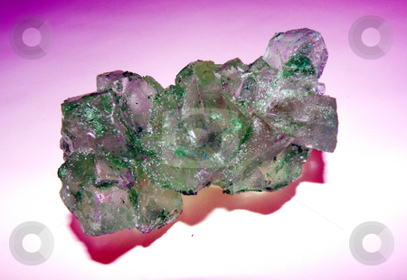 Green rock candy stock photo, A string of green rock candy by Rob Wright