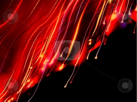 Wavy rainbow laser light stock photo,  by ZaKaRiA- MaStErPiEcE